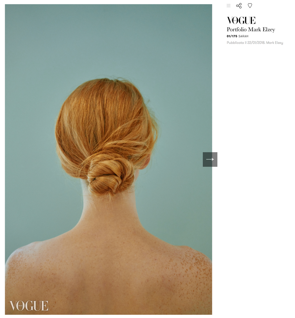 Sarah Elizabeth Mitchell in Vogue Italia