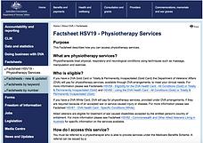 DVA Physiotherapy Fact Sheet