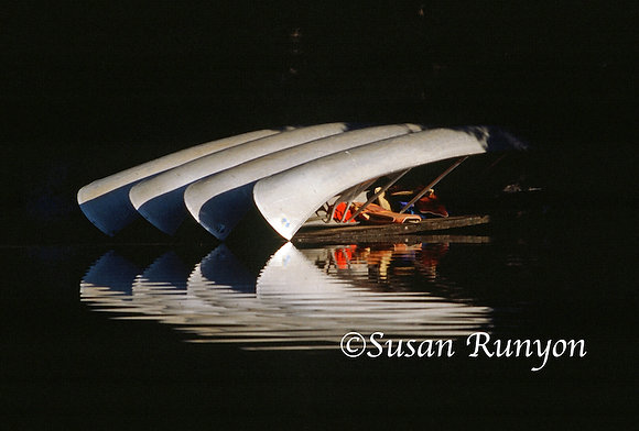 3 - Canoes in Morning Sun