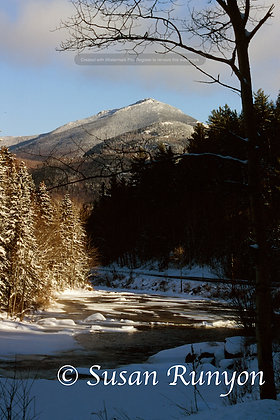 17 - Whiteface from Ausable River (V) Winter