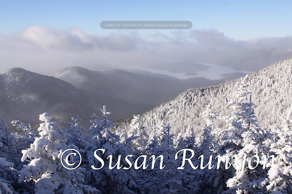 Clouds over Lake Placid - View from Whiteface
