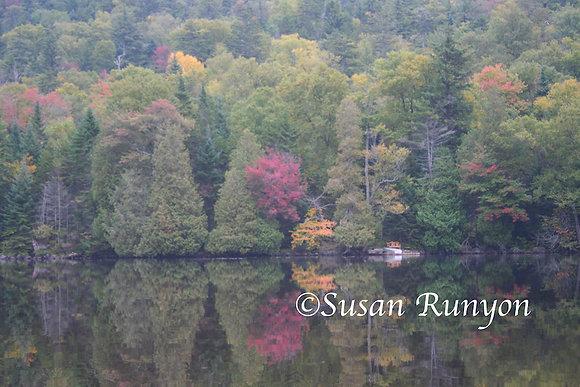 Misty Autumn on Upper Ausable Lake