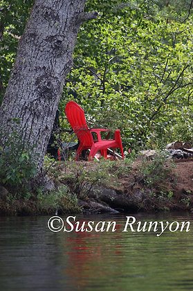 7 - Red Adirondack Chair