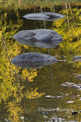 9 - Rocks and Reflection, East Branch Ausable