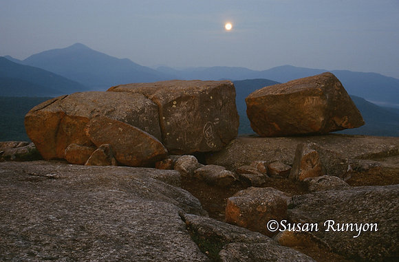 3 - Full Moon Setting, Pitchoff Boulders