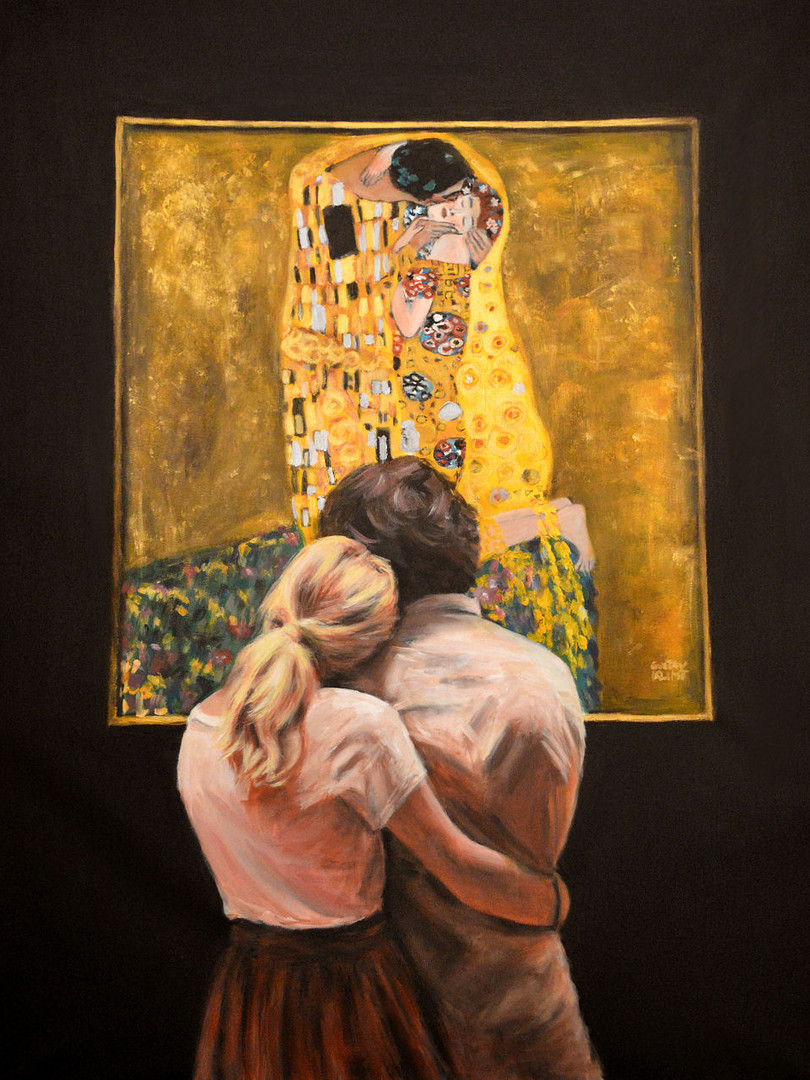 Watching Klimt ( the Kiss).jpg