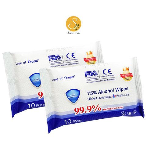 75% Alcohol Sanitizer Wipes 50pcs