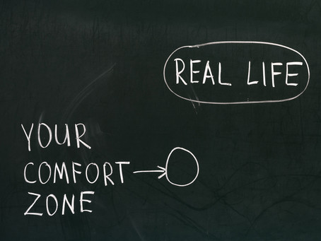 Stepping out of your comfort zone...