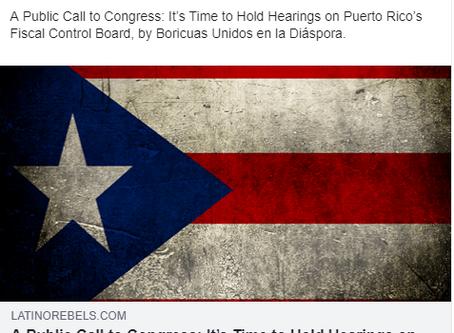 Puerto Rico, Diaspora Call on Congress to Hold Hearings on FOMB