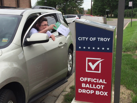 Postmarks Don't Count! Drop Off Your Ballot!