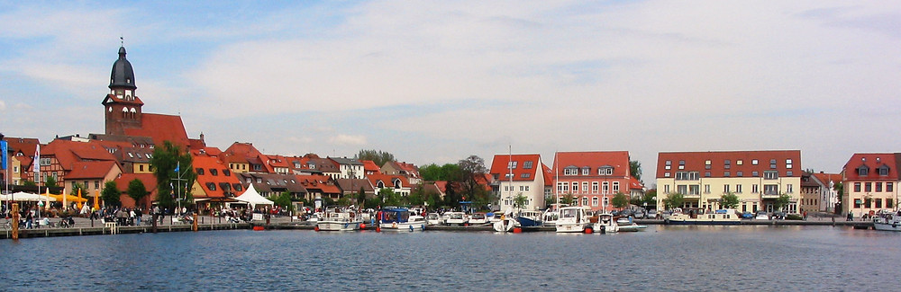 Waren, Germany from the water.