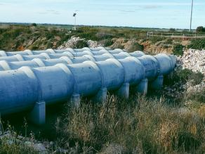 Amex© Manschetten sanieren 4 parallele Bewässerungswasserleitungen für das Murrumbidgee-Bewässerungs