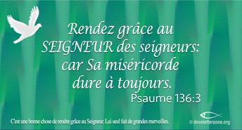 Rendez grâce au Seigneur