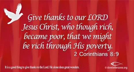 Be Thankful for True Riches