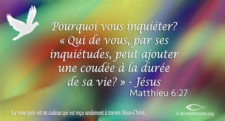Anxiété   Demeurez en Jésus-Christ