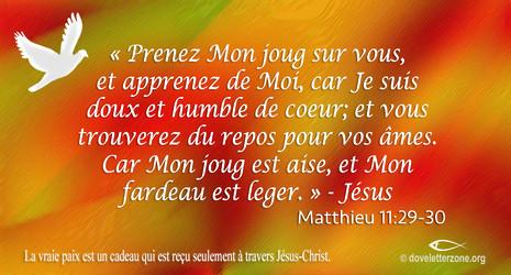 Trouvez le repos en Jésus-Christ