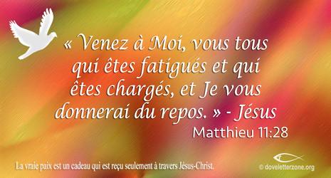 Dépression ou Pensées suicidaires   Donnez vos fardeaux à Christ Jésus