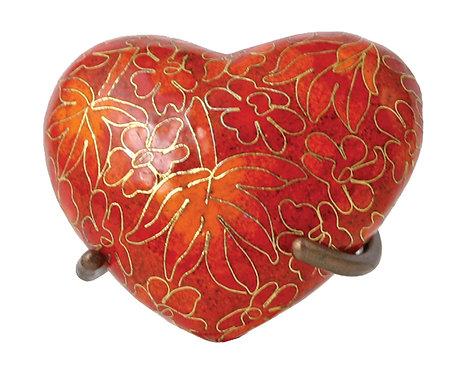 Cloisonne Heart Keepsake