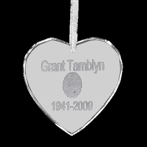 Diamond Edge Heart Ornament