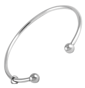 Bangle Bracelet with Charm