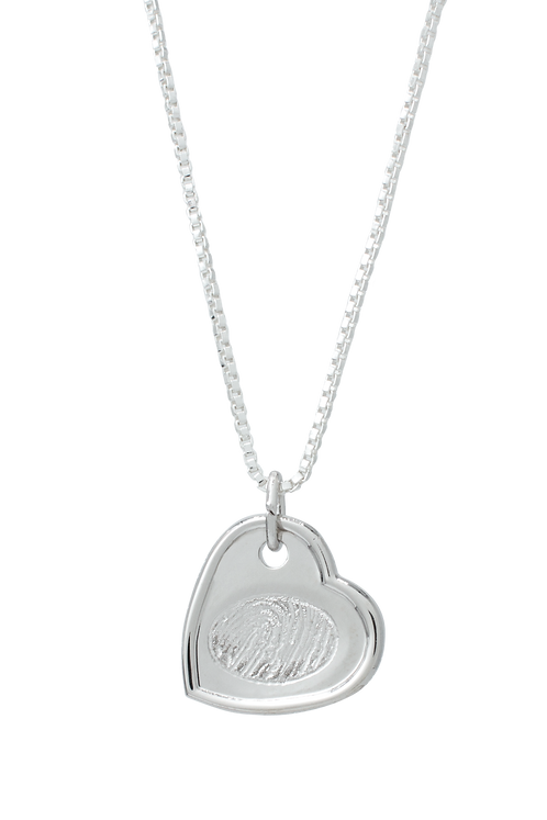 Silver Indented Heart