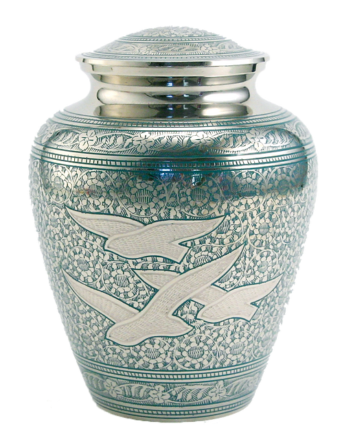 Going Home Solid Brass Cremation Urn