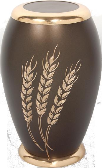 Harvest Wheat - Solid Brass Cremation Urn