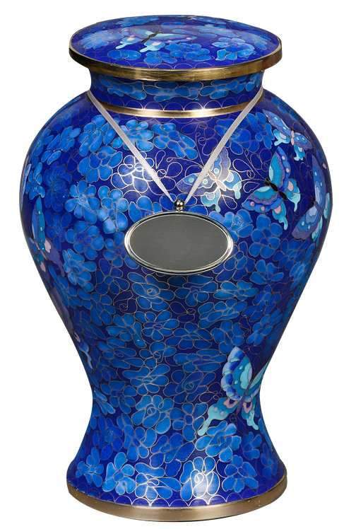 Elysse Cloisonne - Copper Cremation Urn