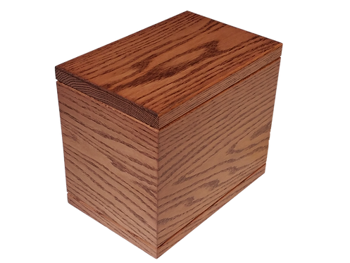 Solid Oak Cremation Urn - Handmade in Winnipeg