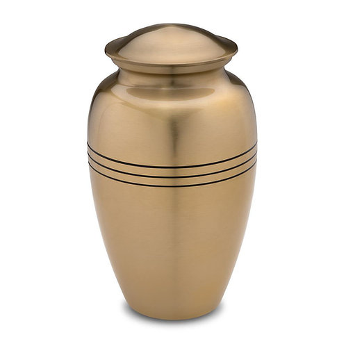 Classic Solid Brass Cremation Urn
