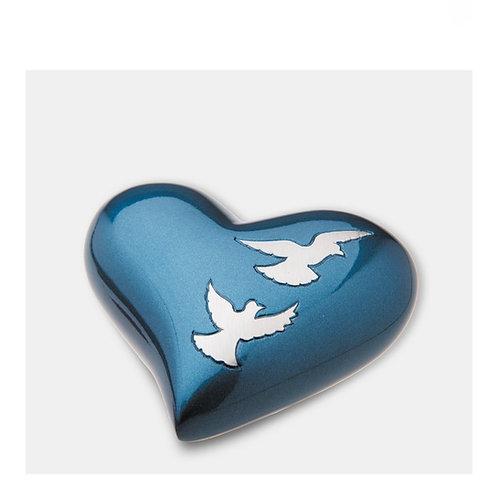 Divine Flying Doves Heart Keepsake