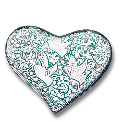 Soaring Doves Heart Keepsake