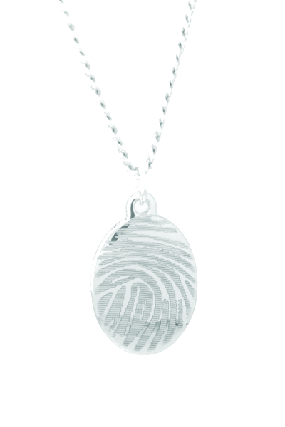 Silver Large Oval
