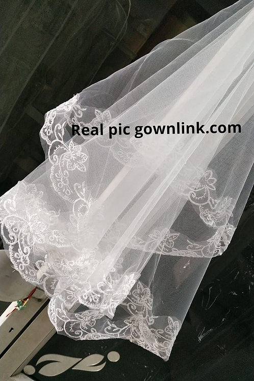 Christian Wedding bridal Short Veil 1.5 Metre GLV09 white INDIA