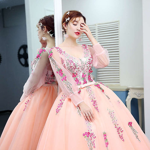 Beautiful Celebrity Style Evening Party Designer Sleeves Dress RC003