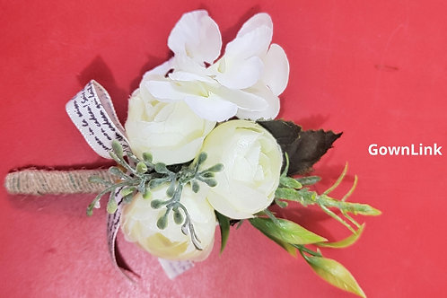 Gownlink Boutonniere Buttonholes Wedding Groom 40 Flower Favor India4.5*3 Inch )