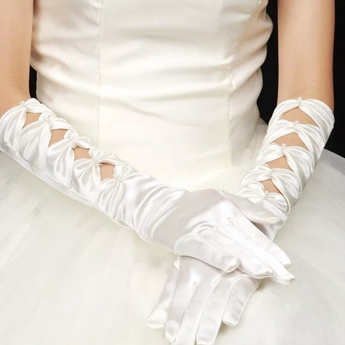 Christian Bridal ,Catholics Bridal Long Finger Gloves