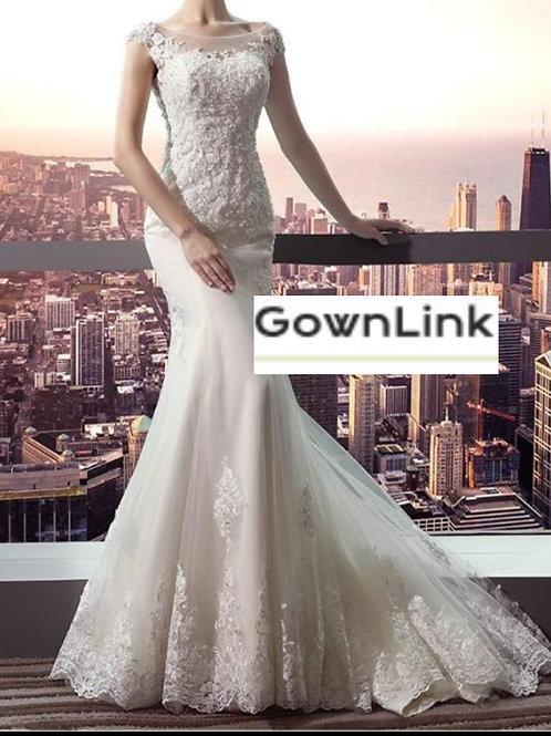 Gownlink Christian Bridal Catholics Bridal Mermaid Train  Gown  Ind