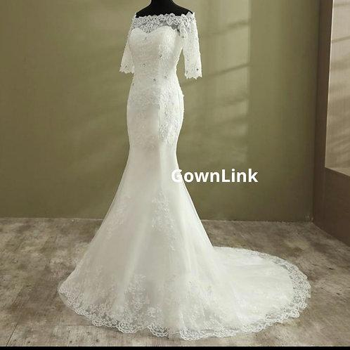 Gownlink Christian Bridal Catholics Bridal Mermaid Train Gown GLD950
