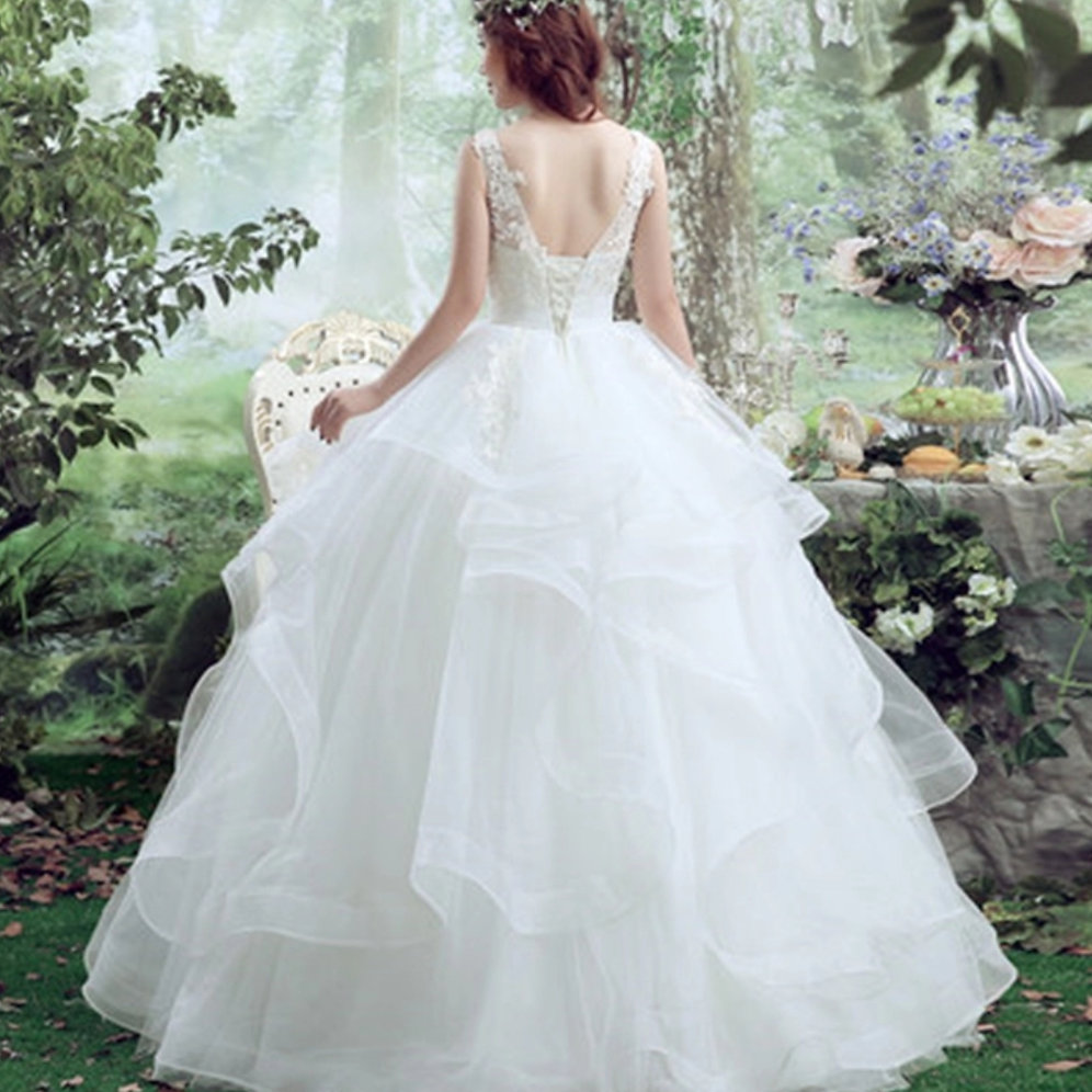 Christian Wedding Gown: Premium Wedding White Christian Wedding Gown HS037
