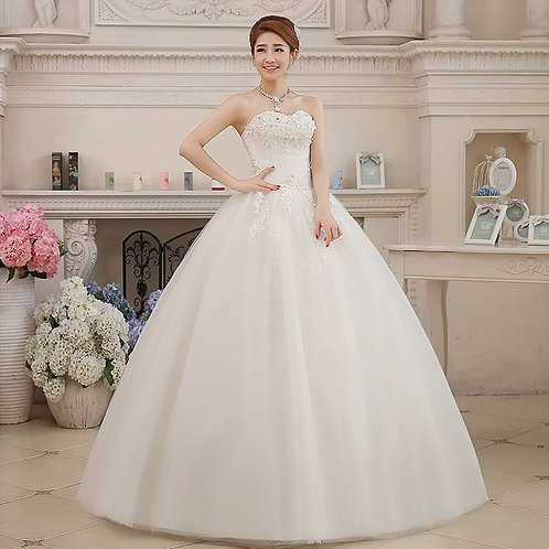 Wedding Gown Ball Tube Dress Christian Wedding Special Occasion Gown HMD16050051