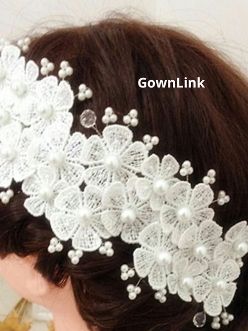 Wedding Crown White wreath For Bridal Hair Accessories Gownlink W 77 India