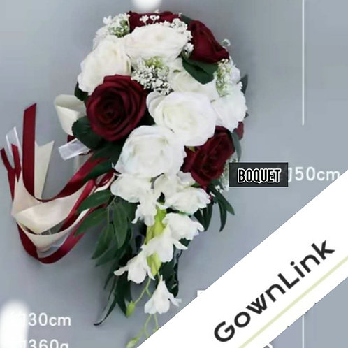 Copy of Christian Bridal Long Bouquet Pink & White Flowers  India Bouquet B 66