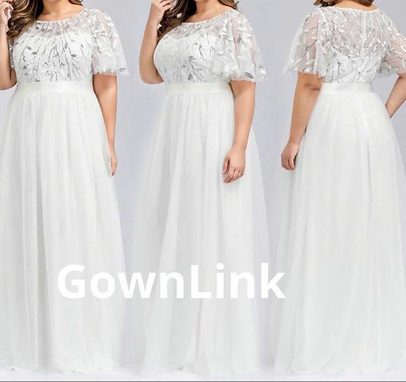 Christian Catholics Wedding Bridal A Gown Short Sleeves