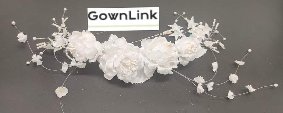 Christian Wedding Bridal Tiara ,Rose Wreath Crown Gownlink W 91 India