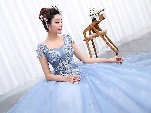 Designer Wedding Dresses  Evening Party Collar Neck RR2105