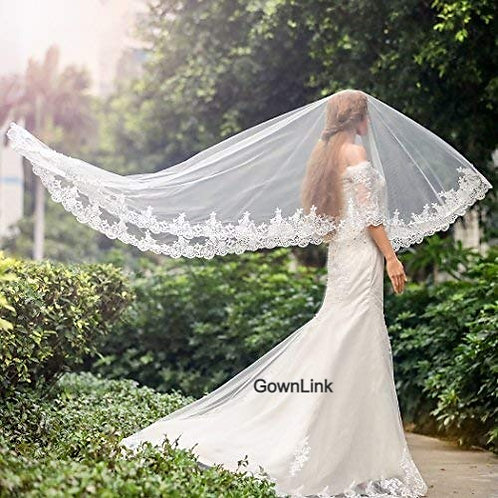 Christian Wedding Catholics wedding white 3 meter 2 Layer veil GLCPA5956 India