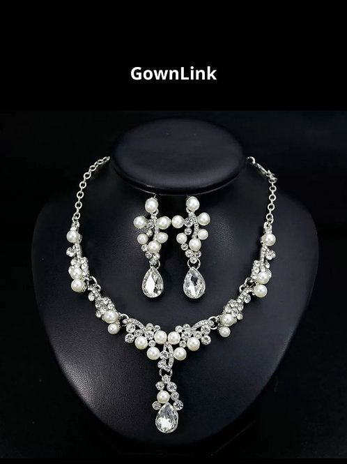 Bridal Silver Necklace With Earings India