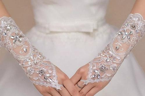 Latest Christian Wedding Gloves GLG12  INDIA