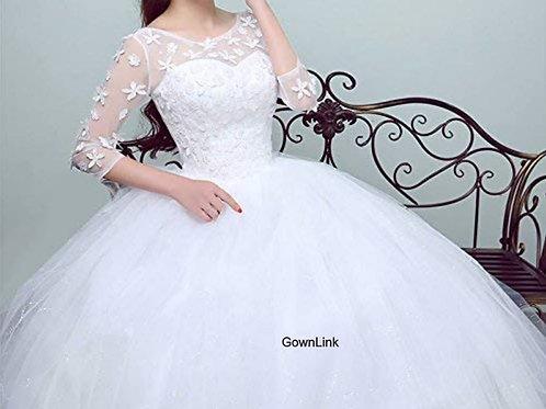 Christian & Catholics Wedding Bridal Ball Gown GLGZ521-6 With Sleeves India